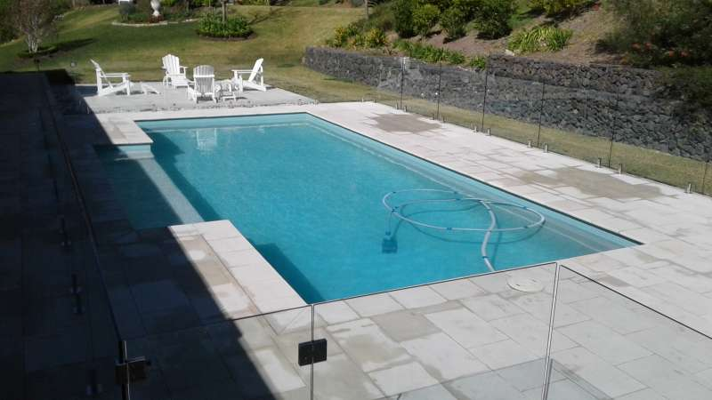 Frameless Glass Pool fencing.
