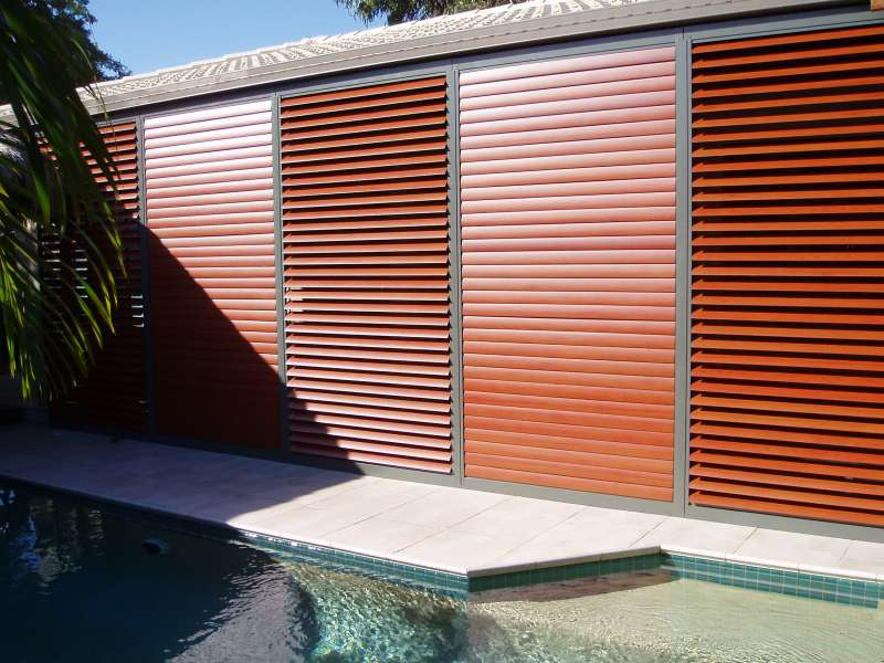 Wood Grain looking Shutters.