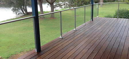 View our range of aluminium & glass balustrades